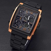 Jam Tangan Pria - Alfa Fourtime - Stainless Steel Chain (ROSE GOLD)