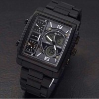 Jam Tangan Pria - Alfa Fourtime - Stainless Steel Chain (BLACK)
