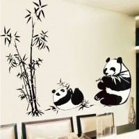 Wallsticker List Transparan Panda