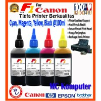 F1 Ink Printer Canon 1 Set CMYK @100 ml