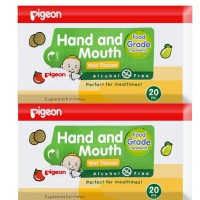 Pigeon Baby Wipes Hand & Mouth (20s) 2 pcs