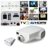 Mini LED PROJECTOR Multimedia HD Home Cinema Theater with TV Analog Port