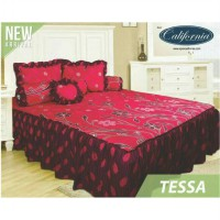 Sprei Rumbai California Uk.180 X 200 Motif Tessa