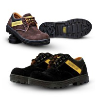4Colors Sepatu Pria Low Safety Boots Suede