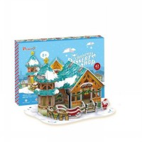 [Lights On Inside] Puzzle 3D Christmas Series - Lampu Menyala Di Dalam