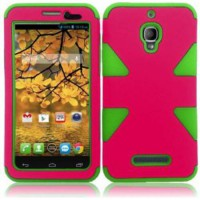 [poledit] For Alcatel One Touch Fierce 7024W Cover Case (Dynamic Hot Pink/Neon Green) (T1)/2057713