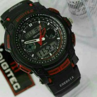 JAM TANGAN SPORT PRIA ORIGINAL DIGITEC DG-2023 BLACK RED WATERRESISTAN