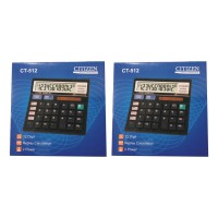 CITIZEN 2 Pcs Calculator 12 Digit CT - 512