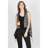 Evica Gray Tribal Vest