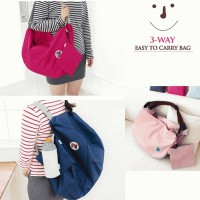 Korean Bag Iconic 3 way bag tas serbaguna multifungsi