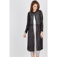 Dona Long Black Lace Outer