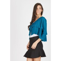 Hestia Layer Cardigan Green