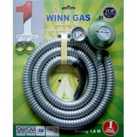 Winn Gas Paket Regulator & Selang Fleksibel - 1.8 m