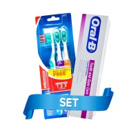 P&G Paket Oral B All Rounder 123 Clean 40 Blister Card 3s & Oral B Tooth & Gum Care Paste 100ml