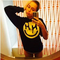 [globalbuy] 2015 fashion Miley Cyrus Happy Hippie Hoodie Sweatshirt Jumper women autumn Ho/4007591