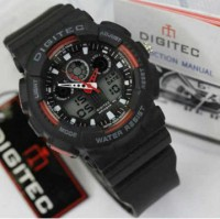 JAM TANGAN WANITA DIGITEC DG-2066 ORIGINAL BLACK RED WATERRESIST