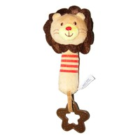 Pumpee Lion Soft Rattle with Squeaker & Teether