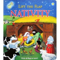 [HelloPandaBooks] Lift the Flap NATIVITY Board Book with over 40 flaps to open (Birth of Jesus)