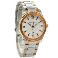 Charles Jourdan 149-16-1 Jam Tangan Wanita Stainless Steel Silver ring Gold