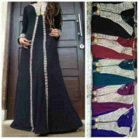 ABAYA INDIA V / GAMIS SAUDI / BAU MUSLIMAH / DRESS INDIA