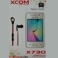 Smartphone Xcom X730 Dual GSM ON Android Kitkat LCD 3.5 inch Capacitive Camera Wifi BBM Ready