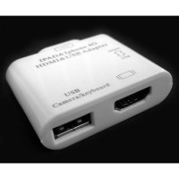 Connection Kit + HDMI Video + USB Adapter for iPad / iPad2 / iPhone4 / iTouch4 Model (IPC-004)