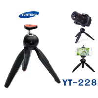 YunTeng YT-228 Mini Tripod Mount + Phone Holder Clip Desktop Self-Tripod