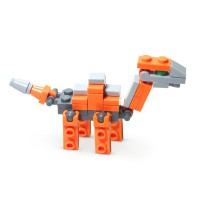[1+1+1] [Fun & Smart] Brick Dinosaurus 6 in 1 Combanine Big ONe MIN-51