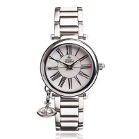 [poledit] Vivienne Westwood Women`s VV006PSLSL Orb Mother of Pearl Silver Analog Display S/13289500