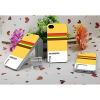 [globalbuy] pantone food hamburger Hard Plastic Clear Back Transparent Style Case Cover fo/3429711
