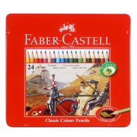 Faber Castell Colour Pencils in Tin Case (Isi 24)