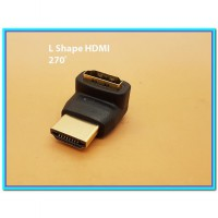 (Kabel & Konektor) 270 derajat L Shape HDMI Converter Male to Female