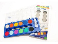 GIOTTO Water Colour Cake Cat Air Lukis Isi 12 Warna