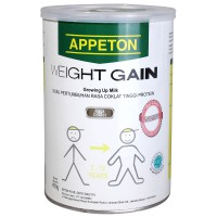 Appeton Weight Gain Coklat 450gr Tin 3-12 years