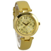 Elle Jam Tangan Wanita Gold Leather Strap ES20048S01X