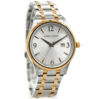 Charles Jourdan 197-17-1 Jam Tangan Pria Stainless steel Silver ring Gold
