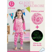 GW169GA - GW Pajamas Glow in the Dark Little Ponny Pink Sz Besar