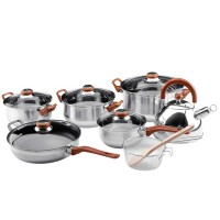 Oxone Ox-933 Eco Cookware Seet 12 + 2 Pcs - Silver