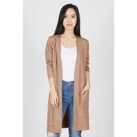 Humier Brown Long Cardigan