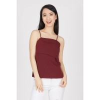 Laishka Strap Top In Maroon