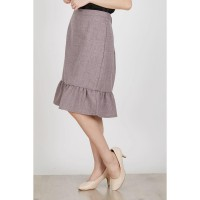 Ercole Brown Frill Skirt