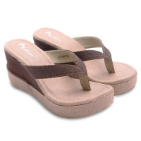 [FREE ONGKIR*] Dr.Kevin Canvas Sandal 2 Model: 67160 Brown, 67161 Brown