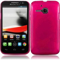 [poledit] For Alcatel One Touch Evolve 5020T 5020 Cover Case (TPU Flexible Hot Pink) (R1)/1834615