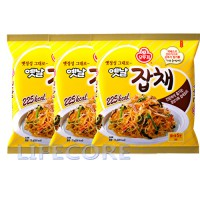 Ottogi Japchae Jabchae Korean Stir Fried Sweet Potato Glass Noodles Party Food Instant Fast 3 Packs