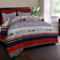 Sprei 'KINGRABBIT' Kid Bajak Laut Biru Uk 100 x 200 (Single)