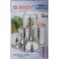 3 Pcs Toples Stainlees Steel / Canister Set Ring