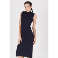 Hensell Navy Knit Dress
