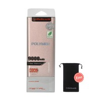 Delcell Metal Powerbank 9000mAh Free Delcell Pouch Universal