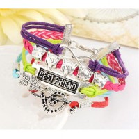 Gelang Friendship Owl Decorated Multilayer - Muticolor