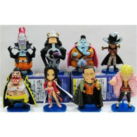 [globalbuy] 8pcs/set new ONE PIECE PVC doll The Seven Warlords of the Sea Qi Wuhai Sir Cro/2546755